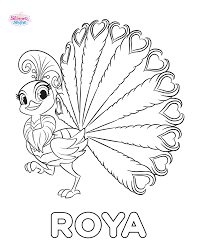 Image Roya The Peacock Shimmer And Shine Coloring Page Png
