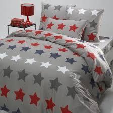 stars printed cotton duvet cover la redoute interieurs image 0