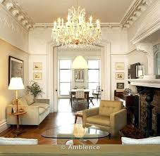 chandelier in living room brownstone neutral living room with on living room chandelier imposing and chandeliers
