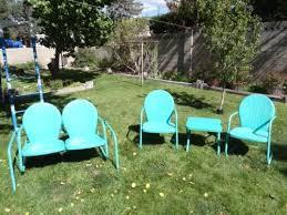 metal outdoor furniture vintage patio
