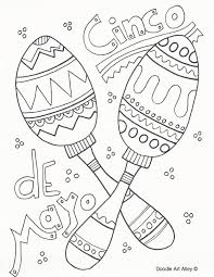 Cinco de mayo worksheets and coloring pages. Cinco De Mayo Coloring Pages Doodle Art Alley
