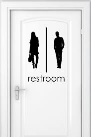 Unisex Bathroom Signs 40Pack Wall Decals WallTat Stunning Unisex Bathroom Sign