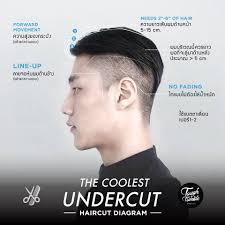 Tough Tumble The Coolest Undercut Haircut Diagram