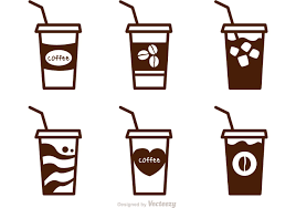 iced coffee clipart black and white. Perfect White Iced Inside Coffee Clipart Black And White Library