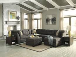Sectional Living Room Set Benchcraft Delta City Steel 3 Piece Modular Sectional With Right