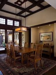 craftsman lighting dining room. Rectangular Chandelier Lighting Dining Room Craftsman With Asian Beamed Ceiling Contemporary. Image By: Shannon White Design