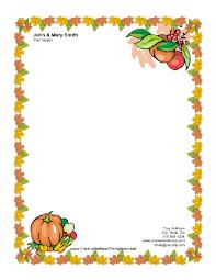 Thanksgiving Letterhead With Pumpkin Letterhead