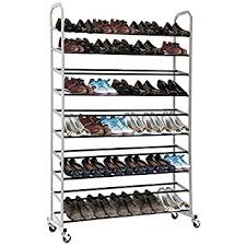Home Basics 10 Tier Coated Non Woven Shoe Rack Amazon AmazonBasics 100 Pair Shoe Rack Home Kitchen 91
