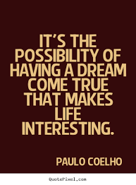 Inspirational Quotes About Making Dreams Come True Best Of How To Design Photo Quote About Inspirational It's The Possibility