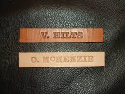ww2 name tag for a2 flight jacket 2 custom stamped tags for