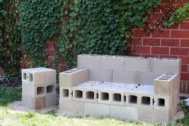 concrete block furniture. Diy Concrete Pier Block With Metal Bracket Furniture