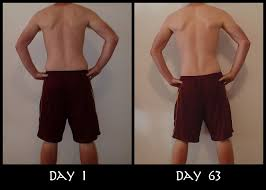 my insanity before and after back pictures
