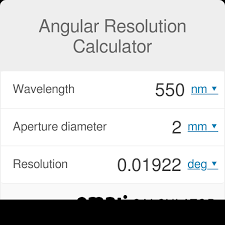 Aperture Distance Chart Angular Resolution Calculator Omni