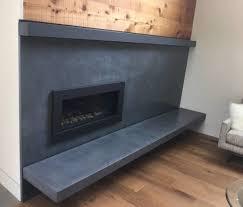 concrete fireplace surrounds