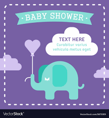 Baby Shower Invitations Template Baby Shower Invitation Template With An Elephant