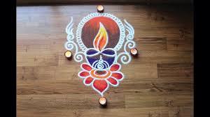 Easy Diya Rangoli Designs For Diwali Simple Freehand Diwali Special Diya Rangoli Designs With