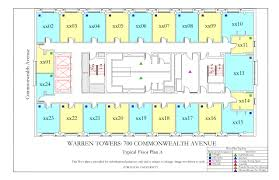 warren towers typical floor plan a