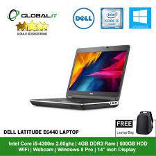 Refurbished Notebook) Dell Latitude E6440 Laptop / 14 inch Display / WiFi /  Webcam / Intel Core i5 / Windows 8