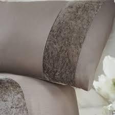 com boulevard crushed velvet cream quilt duvet cover bedding set double by tony s textiles home kitchen