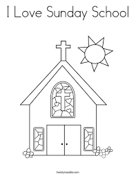 Small Picture I Love Sunday School Coloring Page Twisty Noodle