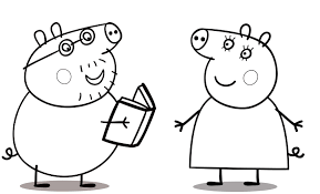 * * * * mummy pig reading a book. Coloring Rocks Peppa Pig Coloring Pages Cartoon Coloring Pages Peppa Pig Colouring