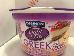 Yoplait Light And Fit Greek Yogurt Crazy Food Dude Review Dannon Light Fit Greek Blends