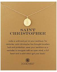 lyst dogeared saint christopher necklace saint christopher 18 in metallic save 9