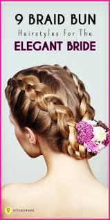 French Braid Updo Hairstyles 9 Braid Buns To Try This Wedding Season