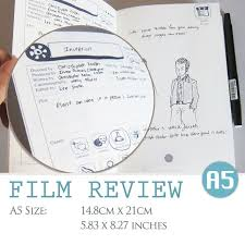 Film Review Template Adorable A44 SIZE Film Review Digital Template Movie Critique Etsy