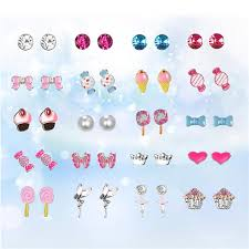 <b>20 Pairs</b>/pack Cute Delicate Adorable Princess Girls <b>Stud</b> Earrings ...