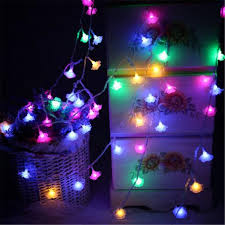 Cheap Fairy Lights Bulk Us 6 65 10 Off Led Romantic Rose String Lights New Year Valentines Day Xmas Wedding Party Led Fairy Lights Rose Flower String Lights In Led String