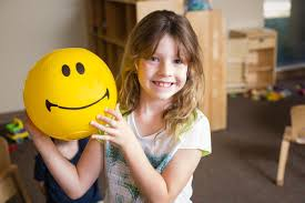 Image result for girl with smiley ball