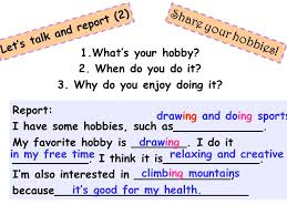 What Is Your Hobbies Do You Collect Anything Unit Hobbies A What Do You Like Doing When