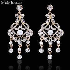 whole chandelier earrings inspirational aliexpress com 14k gold plated top austrian crystal