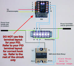 pid controller hook up help please model but refer to the rest of the image for a sample of how to provide power to both the pid and the load side of the ssr which is switched on off