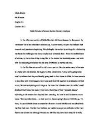literary response essay pablo neruda love sonnets afternoon section analysis marked by teachers page zoom in