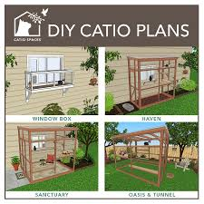 4 diffe catio plans for a window patio deck or garden
