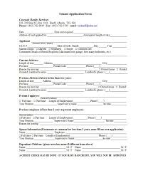 42 Rental Application Forms Lease Agreement Templates Rental