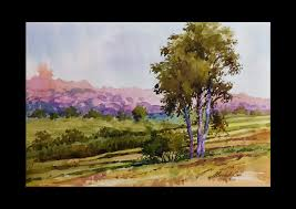 watercolor landscape tutorial how to paint a watercolor landscape by mridul sen from india you