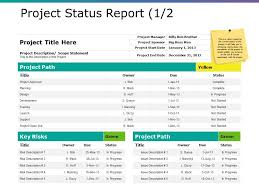Project Progress Report Sample Project Status Report Ppt Sample Presentations Powerpoint