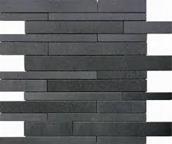 Slate Wall Tiles Kitchen Black Slate Split Face Mosaic Tiles 600x150 Slate Cladding