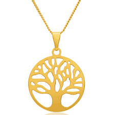 9ct yellow gold silver filled tree of life 25mm pendant 15250726 jewellery shiels jewellers