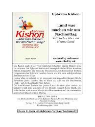 Kishonephraim Und Was Machen Wir Am Nachmittag