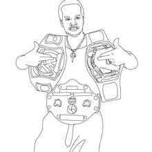 Small Picture WWE gold belt winner artcoloring pages for grandkids