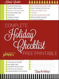 Printable Christmas Gift List Template Free Printable Holiday Checklist And Christmas Gift List