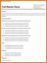 Basic Resume Template Free Custom 40 Free Basic Resume Templates Lbl Home Defense Products