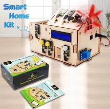 Русский учебни Keyestudio akıllı IOT ev kiti artı kurulu Arduino için başlangıç  kiti DIY Projetcs STEM programlama/CE uyumlu|Integrated Circuits