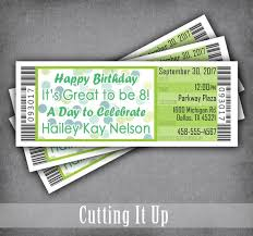 Concert Ticket Invitations Template Awesome Movie Theme Birthday Party Ticket Invitations Concert Ticket Etsy