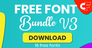 Licensed for personal and commercial use. Free Font Bundle V3 Bundle Creative Fabrica