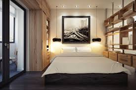 Modern Small Bedroom Interior Modern Small Bedroom With 2 Pendant Lamp And Wooden